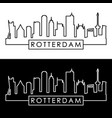 rotterdam skyline linear style editable file vector image vector image