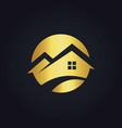 Round house icon gold logo