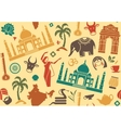 Seamless background on a theme of India vector image vector image