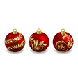set christmas balls isolated objects on white vector image vector image