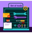 set tools for seo flat design vector image vector image