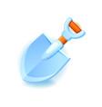 shovel icon for web and mobile games garden vector image vector image