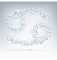sign of the zodiac bubble soap vector image