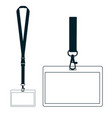 silhouette of lanyard with neckband vector image vector image