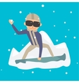 Snowboarder jump vector image vector image