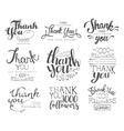 Thanking Cards For The Social Media Followers Set vector image vector image