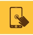The click on the screen mobile phone vector image vector image