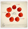 total sale diagram set vector image