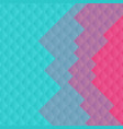turquoise and pink abstract minimal squares vector image vector image