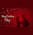 valentine day background with couple in love vector image