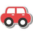vintage car kid toy icon vector image