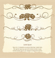 vintage decorative ornaments with roses vector image vector image