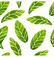 watercolor leaves pattern vector image vector image