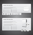 Web Box Templates vector image