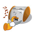 with trumpet container food bread bin in store vector image vector image