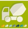 Flat design Cement Mixer vector image