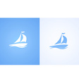 Sailboat on ocean wave vector image
