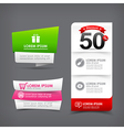 021 Collection of colorful web tag banner for vector image vector image