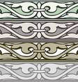 6 set decorative borders vintage style silver vector image
