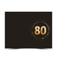 80 years anniversary card vector image vector image