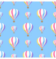airballoon with colorful stripes seamless pattern vector image vector image