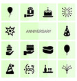 anniversary icons vector image vector image