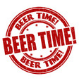 beer time sign or stamp vector image