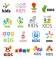 biggest collection of logos children vector image