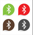 bluetooth sign icon vector image