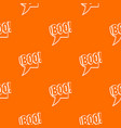 boo comic text speech bubble pattern seamless vector image vector image