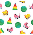 bright colored seamless pattern with children s vector image vector image