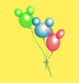 bright multicolored balloons vector image