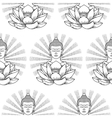 Buddha and Lotus with light seamless pattern vector image vector image