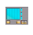 building 2d building made bricks vector image vector image