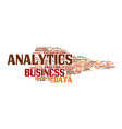 business analysis wordcloud vector image vector image