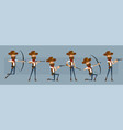 cartoon cowboy or sheriff character big set vector image