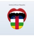 Central African Republic language Abstract human vector image vector image