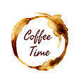 coffee time label vector image