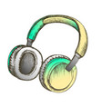 color melomane accessory wireless headphones ink vector image vector image