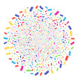 comb fireworks spheric cluster vector image vector image