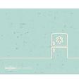Creative fridge Art template vector image vector image