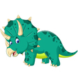cute Triceratops cartoon for you design vector image vector image