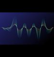 digital equalizer sound wave vector image vector image