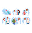 doctor people vaccinate patients in clinic vector image vector image