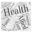experts say the allied health work force