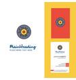 eye ball creative logo and business card vertical vector image vector image