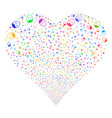 face fireworks heart vector image vector image