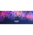 festive fireworks realistic colorful firework vector image