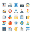 flat icons set of creative process vector image vector image