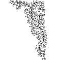 Floral vignette CCCXC vector image vector image